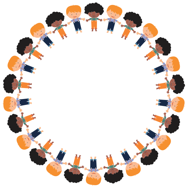 Cartoon Boys Circle