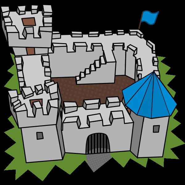 Cartoon castle vector clip art