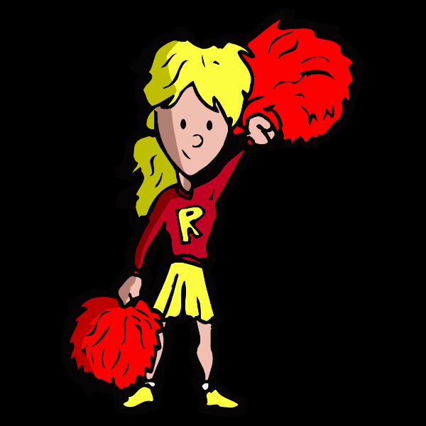 Cartoon Cheerleader 4