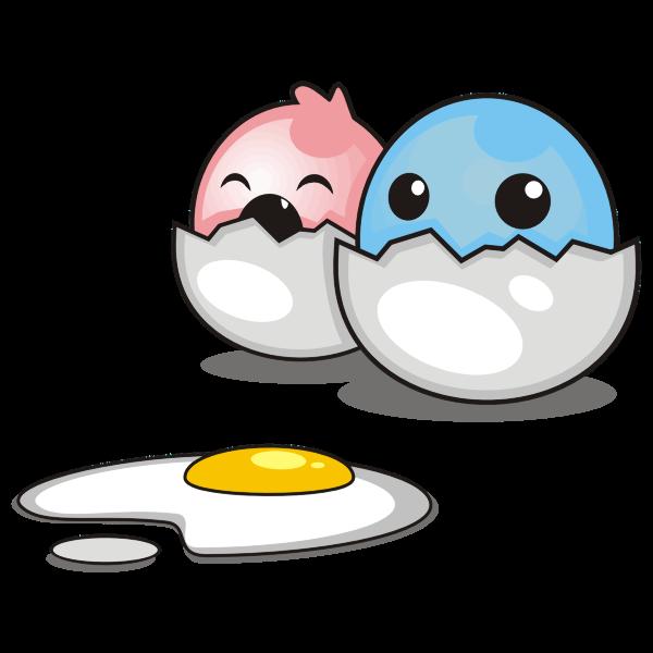 Cartoon Chicks Hatching