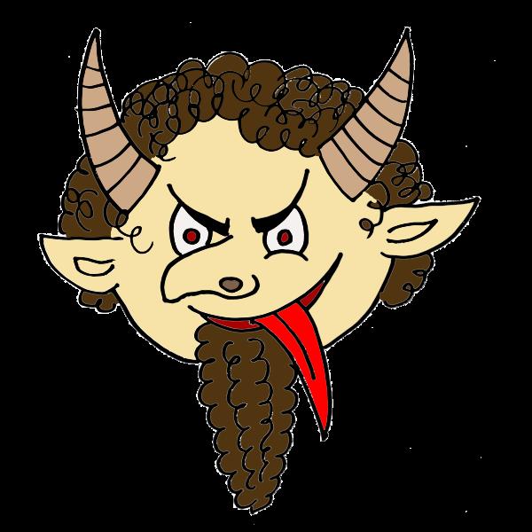 Devil with beard