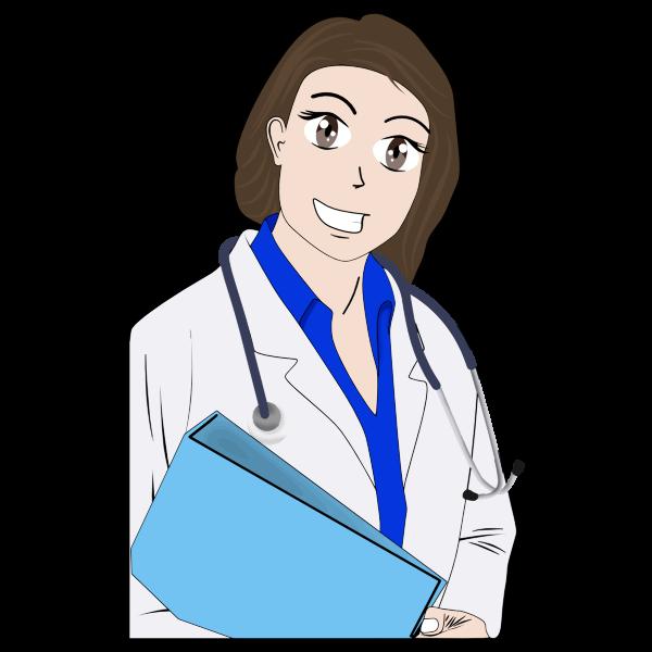 Cartoon female doctor