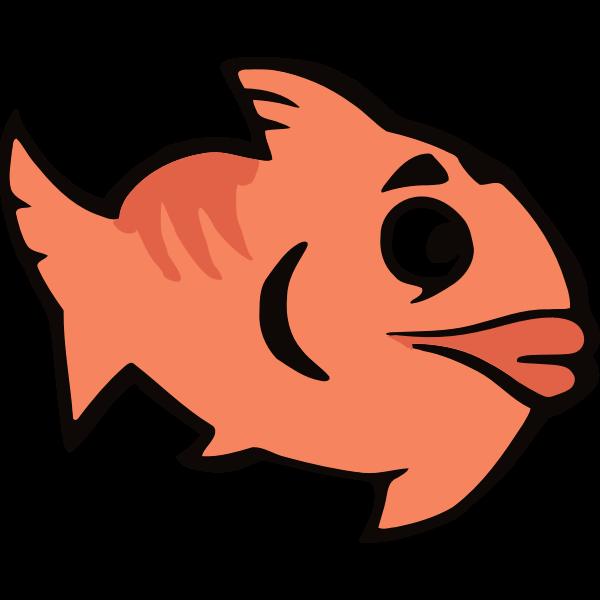 Orange cartoon fish