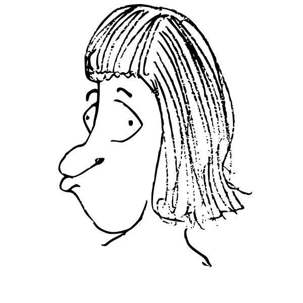 Sulky man cartoon head vector illustration