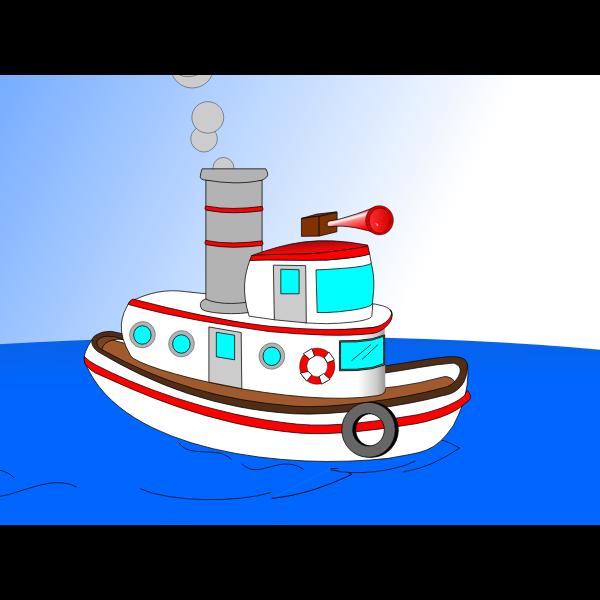 Animated Cartoon TugBoat