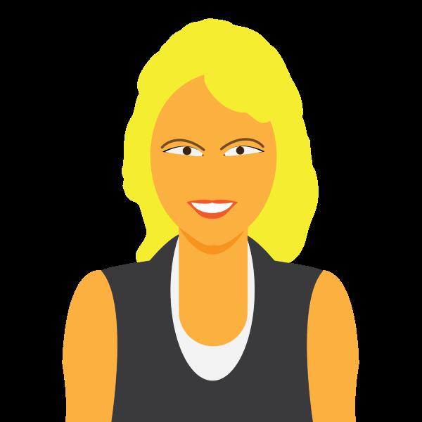 Blond avatar girl