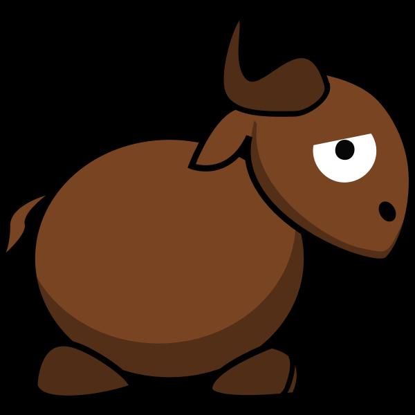 Caricature image of a gnu