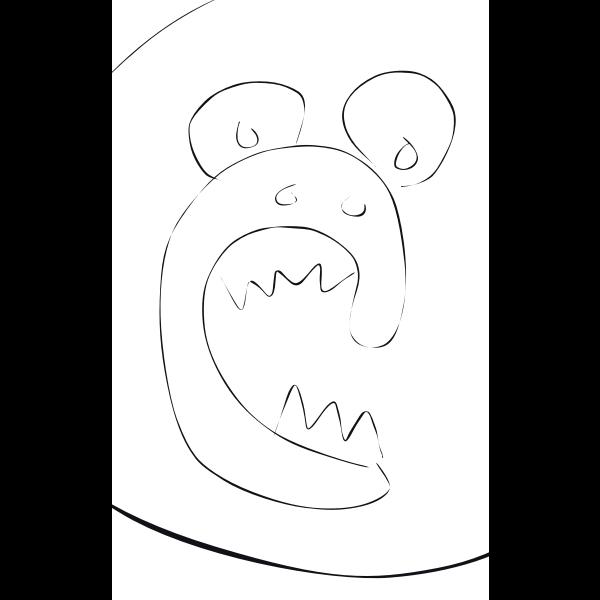 Cartoon screaming monkey