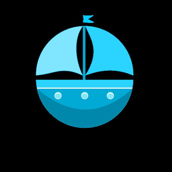 Cartoon ship silhouette