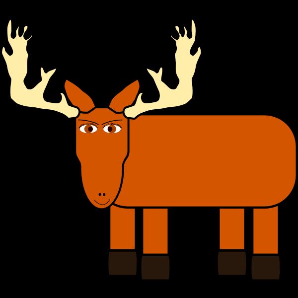 Cartoon image of a moose