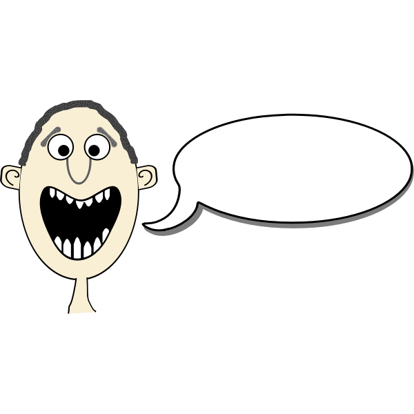 Funny boy comic announcement vector image