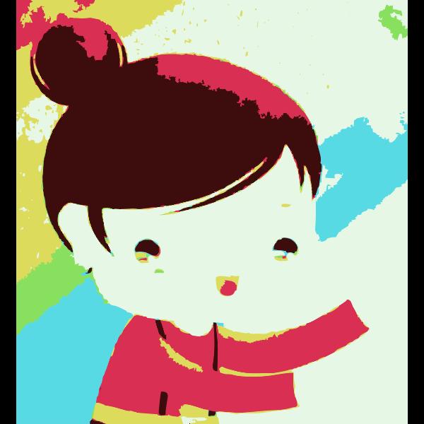 Cartoon portrait of girl vector image