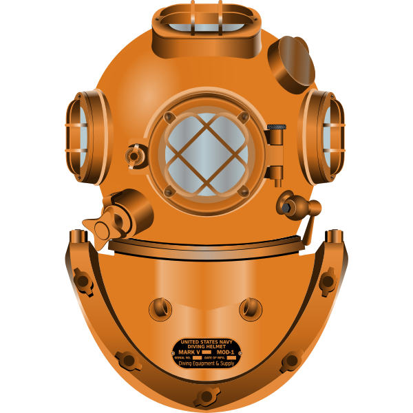 Diving helmet vector drawing