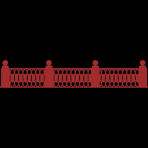 Cast iron gratings of embankment vector illustration