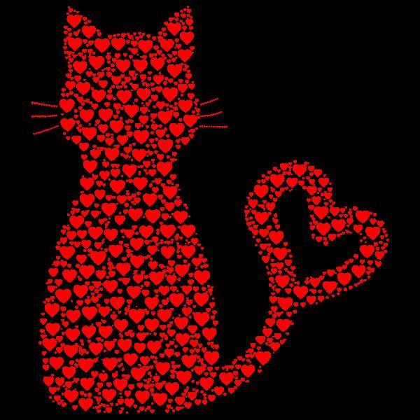 Cat Heart Tail Hearts