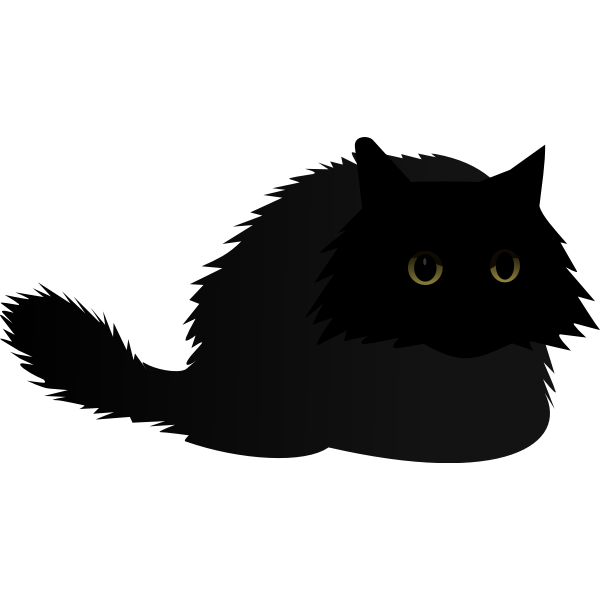Cat black angry by Rones