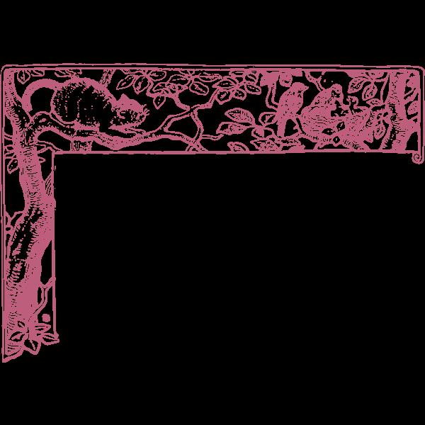 Vector illustration of animal upper left corne
