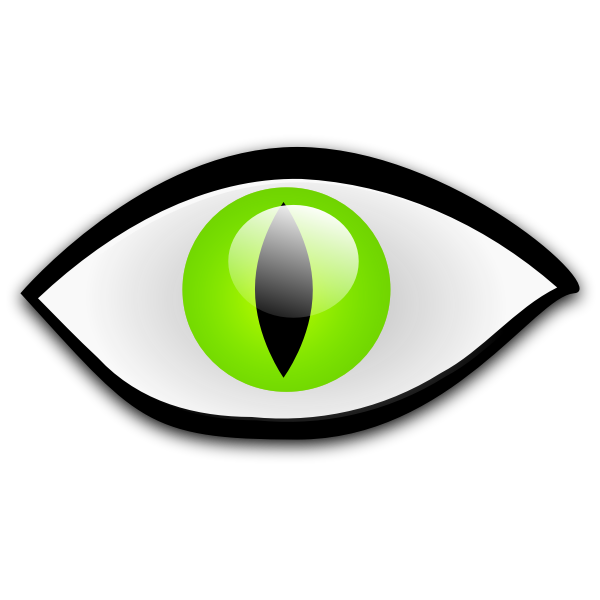 Green eye vector graphics
