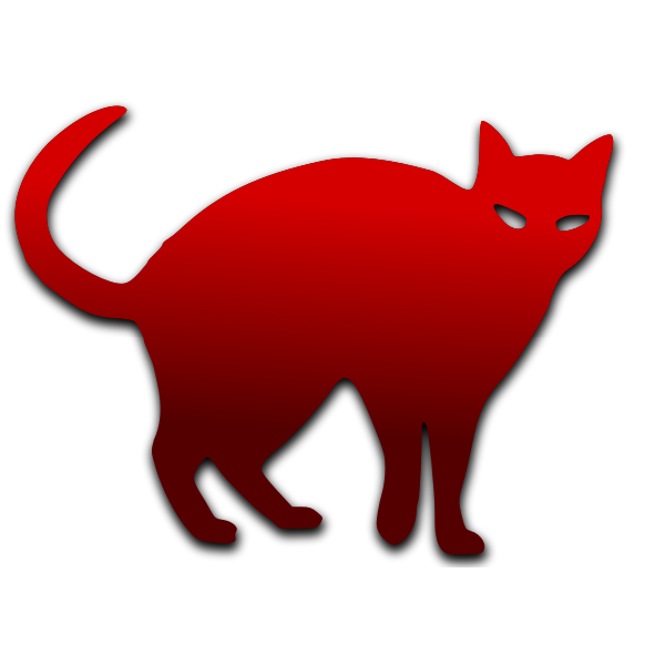 Cat outline vector image