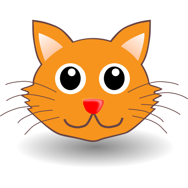 Funny cat head vector illustration