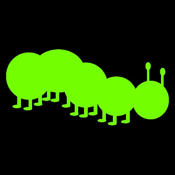 Caterpillar silhouette