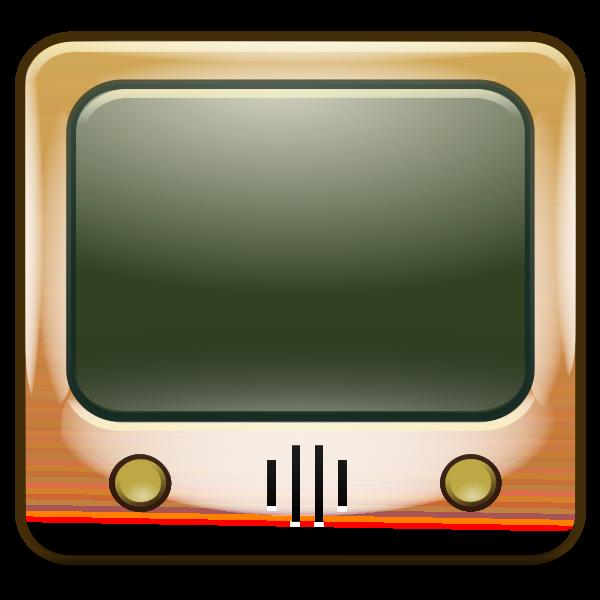 Old CRT TV set vector illustration