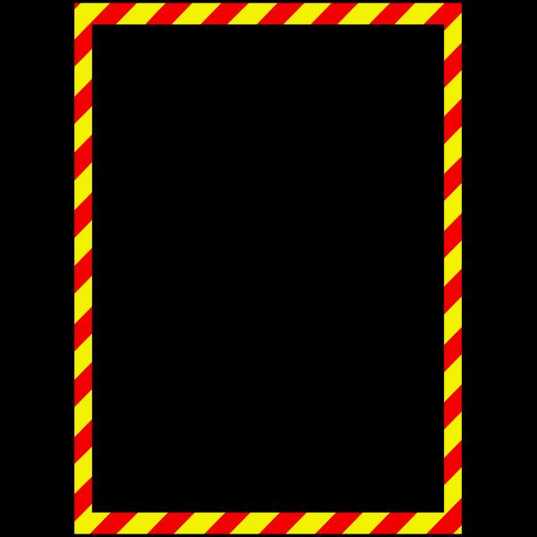 Vector illustration of warning style border