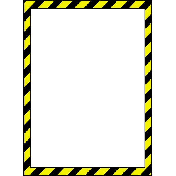 Vector image of caution style border