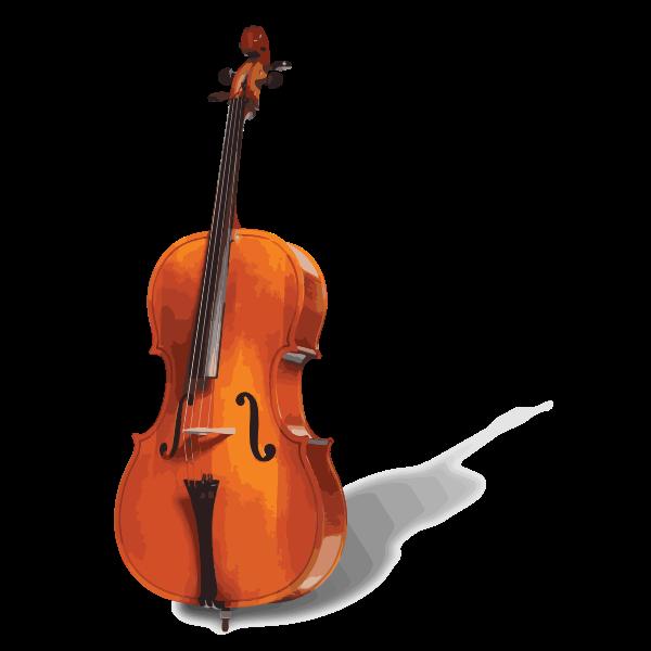 Vector image of a cello