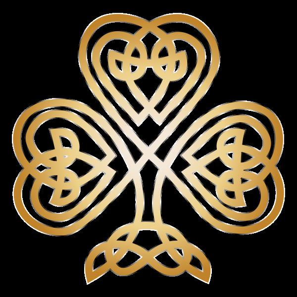 Vector illustration of modification of the Celtic shamrock