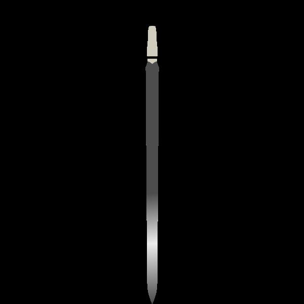 Vector clip art of long Celtic sword