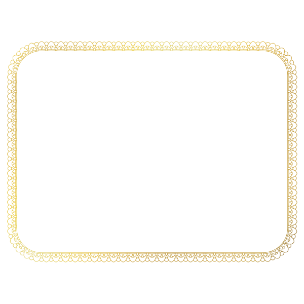 Certificate Border 2 (US size)