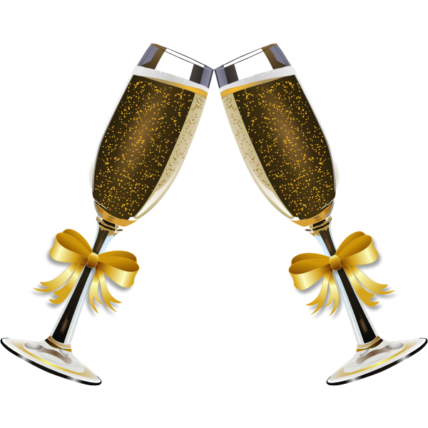 Vector illustration of glasses of champagne