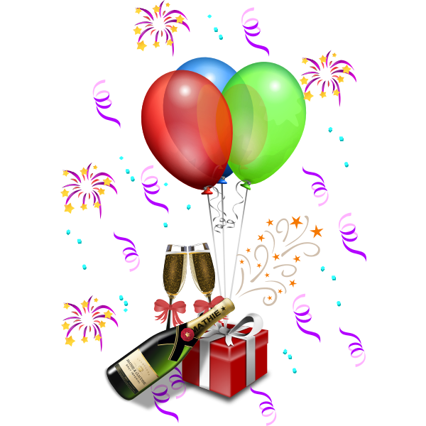 Vector illustration of gifts for celebration