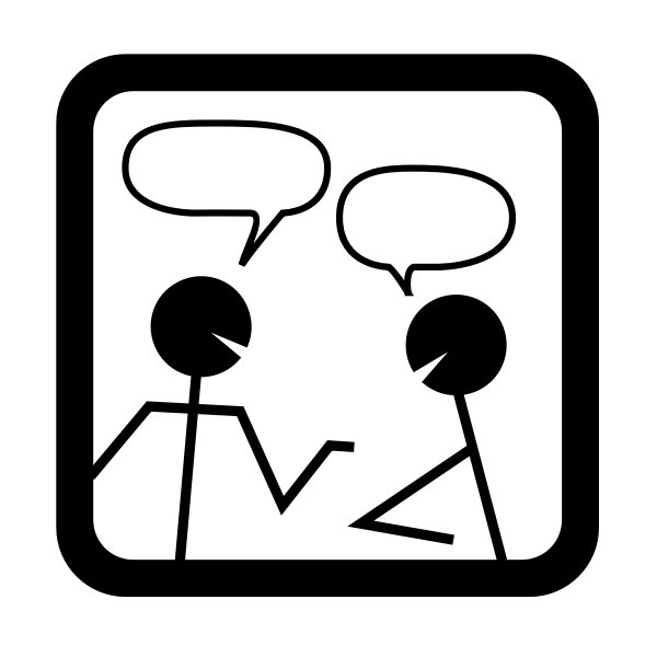 Chat dialogue icon vector illustration