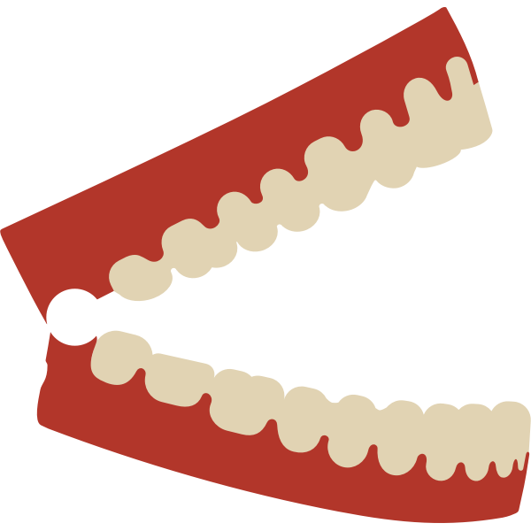 Chattering teeth with red base vector image