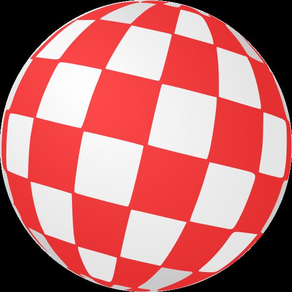 Checkered ball vector image