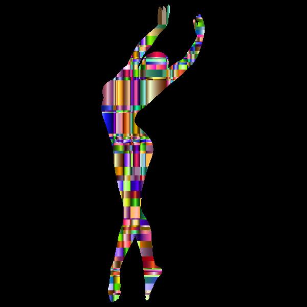 Checkered Chromatic Dancing Woman