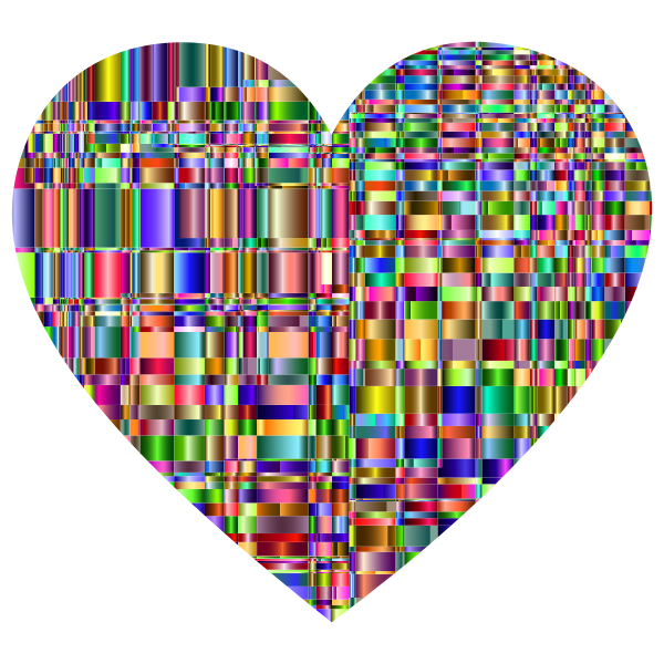 Checkered Chromatic Heart
