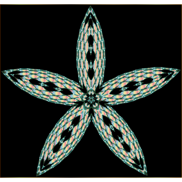 Checkered Flower Shape 10