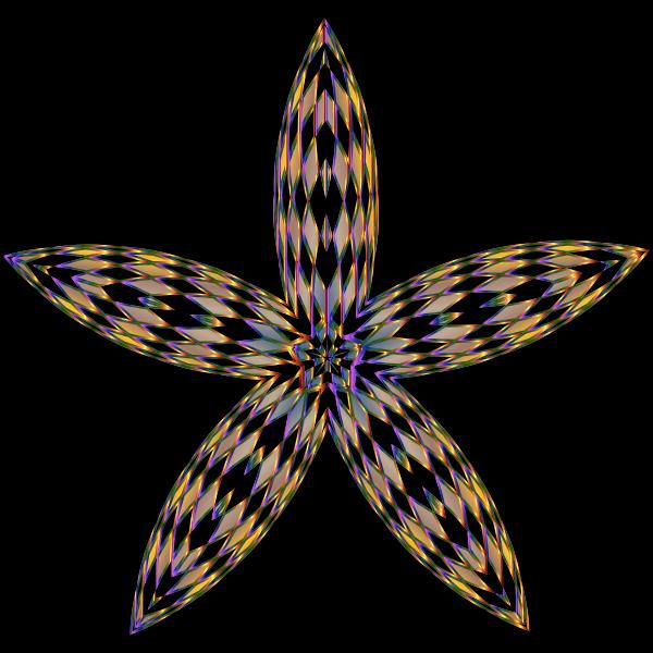 Checkered Flower Shape 2
