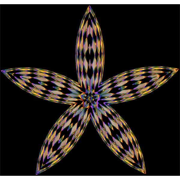 Checkered Flower Shape 2