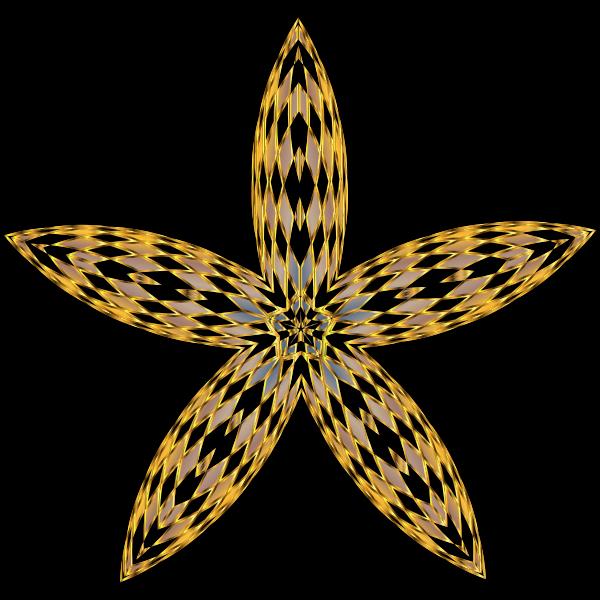 Checkered Flower Shape 3