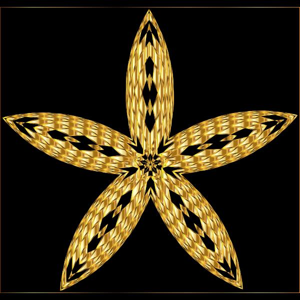 Checkered Flower Shape 4