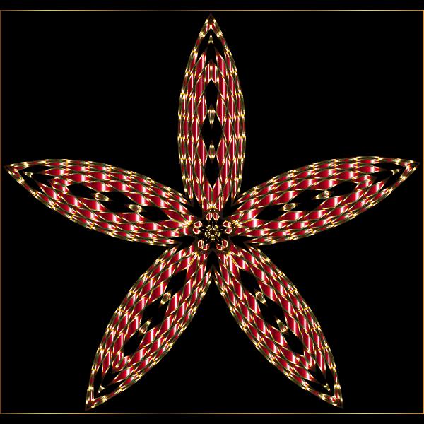 Checkered Flower Shape 7