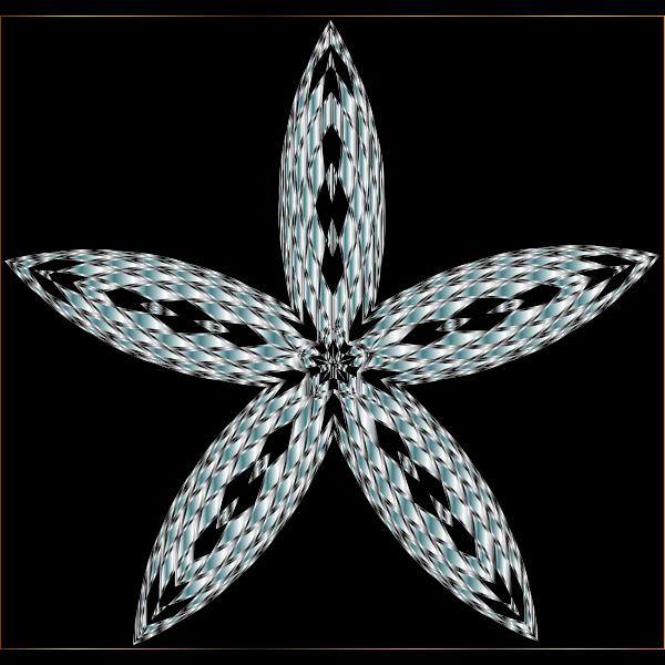 Checkered Flower Shape 8