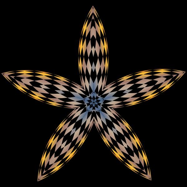 Checkered Flower Shape
