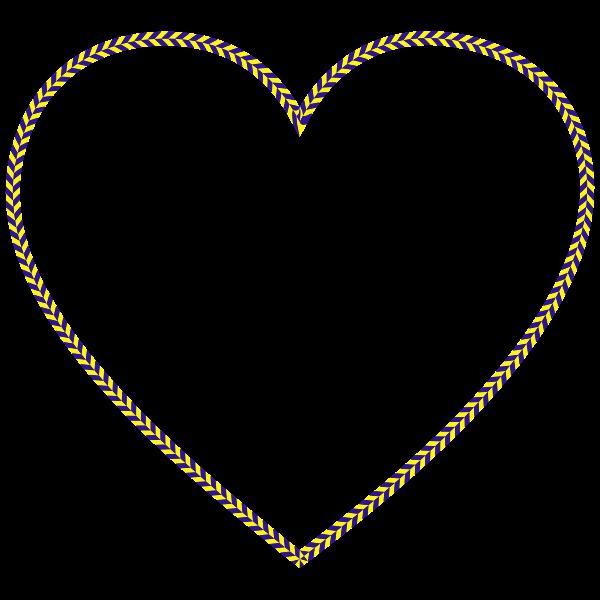 Checkered racing heart