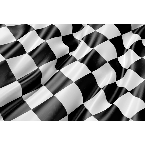 Waving Checkered Flag | Free SVG