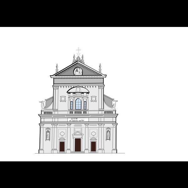 San Rocco church in Miasino vector image